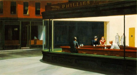 1. Edward Hooper - Nighthawks.